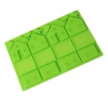 Small Gingerbread House silicone Mould (Green)