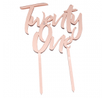 ROSE GOLD  Mirror Cake Topper  - Twenty One