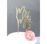 GOLD Mirror Cake Topper  - Mr & Mrs