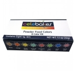 Celebakes - 8 Food Colour Dust Kit