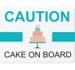 Large Caution Cake on Board Magnet