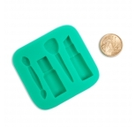 Make Up Sugarcraft Silicone Mould - GREEN