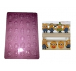 Minions PLASTIC Chocolate or Gumpaste Mould