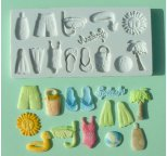Beach Themed Silicone Sugarcraft Mould