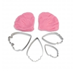 Peony Rose Cutter and Veiner Set