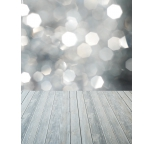 Photo Backdrop Silver Grey Bokeh with Grey Table