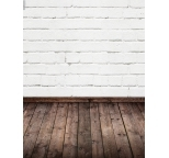 Photo Backdrop White Brick & Dark Floor Two Way