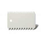 Plastic Rectangular Comb Scraper (double sided)