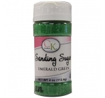 SANDING SUGAR - Emerald Green - 113g Bottle