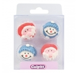 Santa and Snowman Face Sugar Decorations (12)