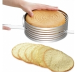 Stainless Steel Adjustable Cake Layer / Slicer Guide 15-20cm