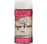 SUGAR PEARLS 3 - 4mm - Pink - 113g Bottle