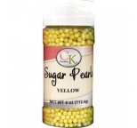 SUGAR PEARLS 3 - 4mm - Yellow - 113g Bottle