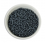 SUGAR PEARLS 3-4mm - Pearlised Gunmetal Black - 102g Bottle