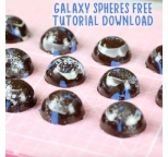 Tutorial - Video Tutorial on Chocolate Galaxy Sphere Moulds
