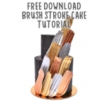 Tutorial - Metallic Brush Stroke Cake FREE Download
