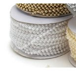 6mm White Pearl Strand Non Edible Per Metre