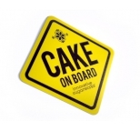 Yellow Cake on Board Magnet