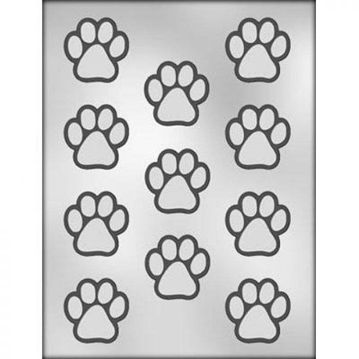 1 1/2 Paw Print Chocolate / Gumpaste Mould