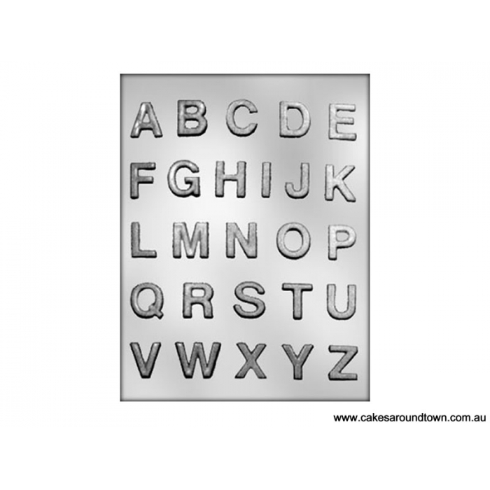 1 ALPHABET chocolate mould