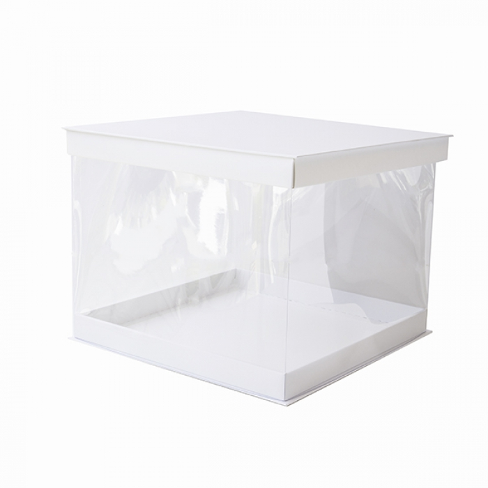 12inch PVC SQUARE Display Cake Box (30cm High) SINGLE - PICK UP ONLY