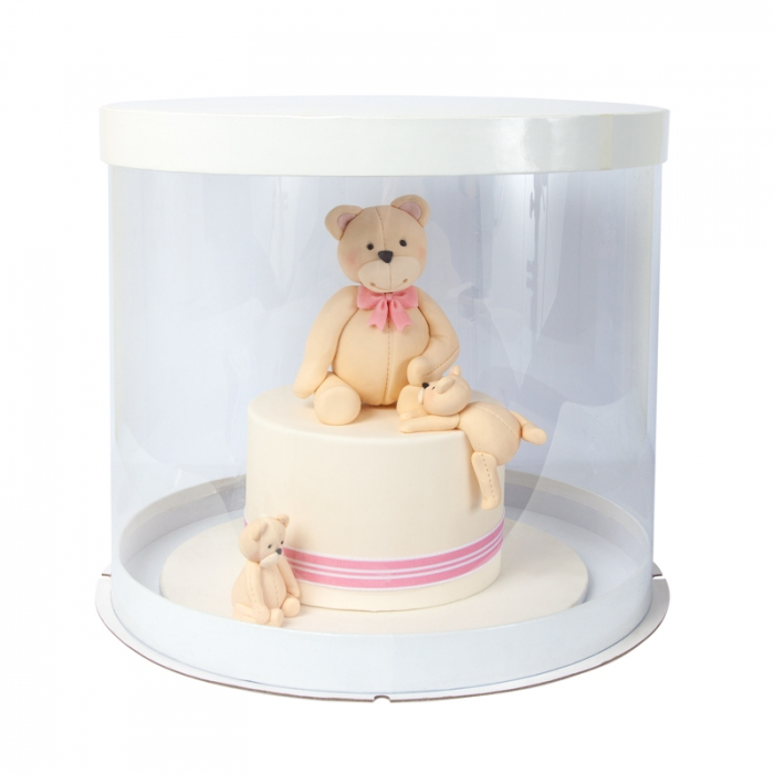 12inch PVC ROUND Cake Box - Single PICK UP ONLY