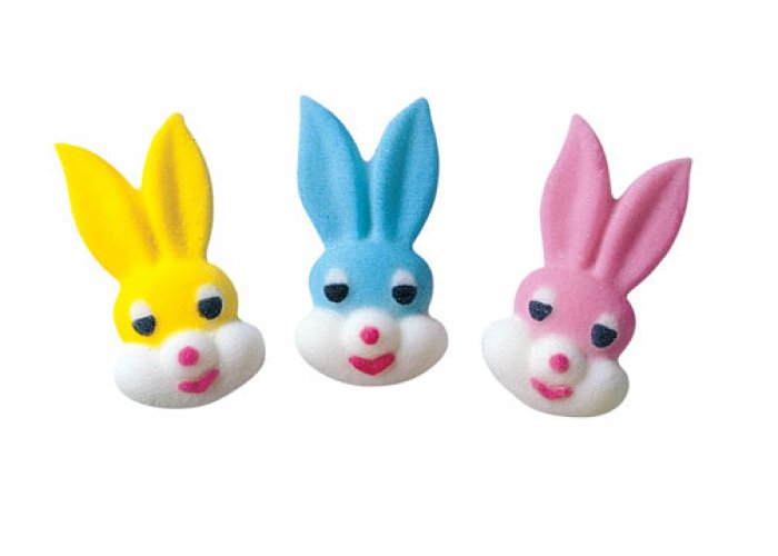 Cupcake Decorations Bunny Heads Singles - PICK UP