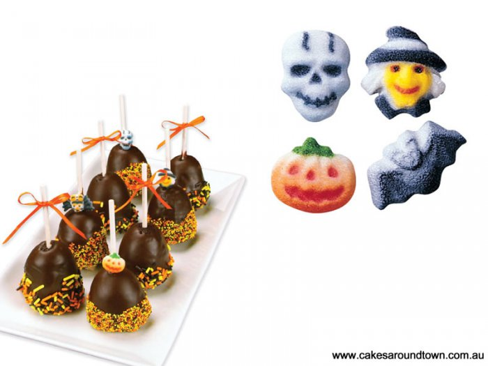 Halloween Cake Decorations Au : Edible Decorations Halloween Charms Ass (616)
