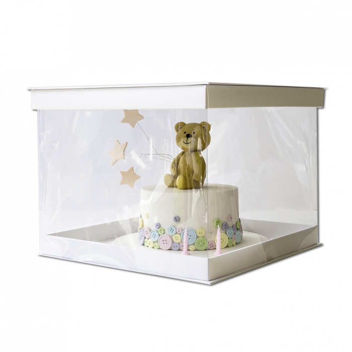 14inch PVC Display Cake Box (30cm High) SINGLE - PICK UP ONLY