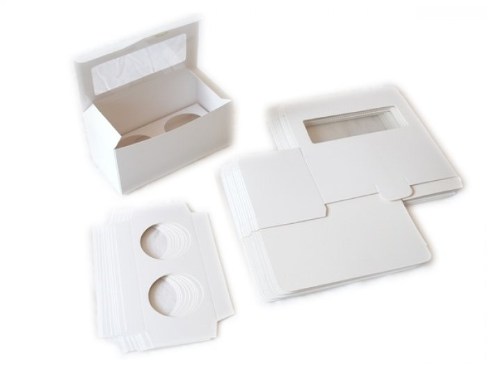 STANDARD Cupcake Box - with insert & window (holds 2)