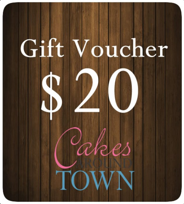 $20.00 Gift Certificate For Cakes Around Town