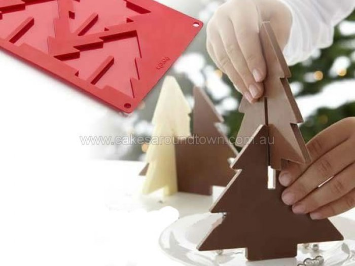 3D Christmas Tree Silicone Chocolate Mould