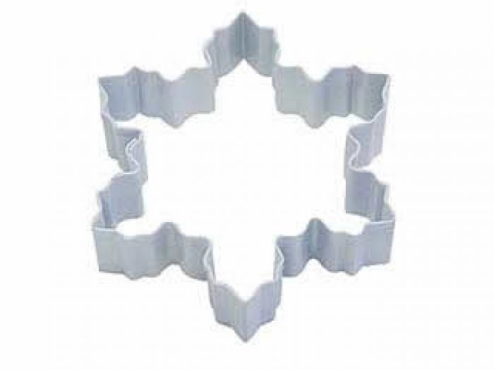 COOKIE CUTTER - Snowflake 4 WHITE Resin