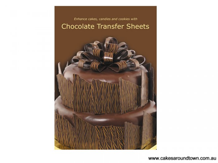 how to make transfer sheets for chocolate