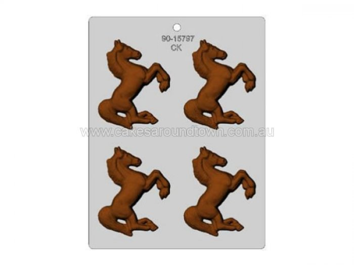 3 Horse chocolate mould
