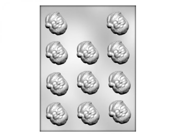1.5 inch SANTA FACE  chocolate mould