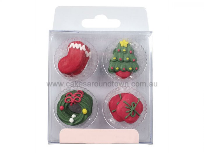 Sugar Cake Decorations For Christmas : Christmas Icing DEcorations
