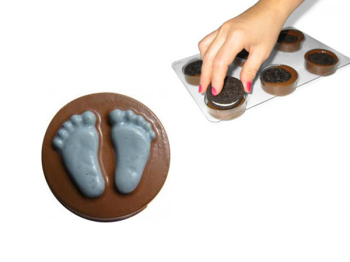 Baby Feet Sandwich Oreo Cookie Mould