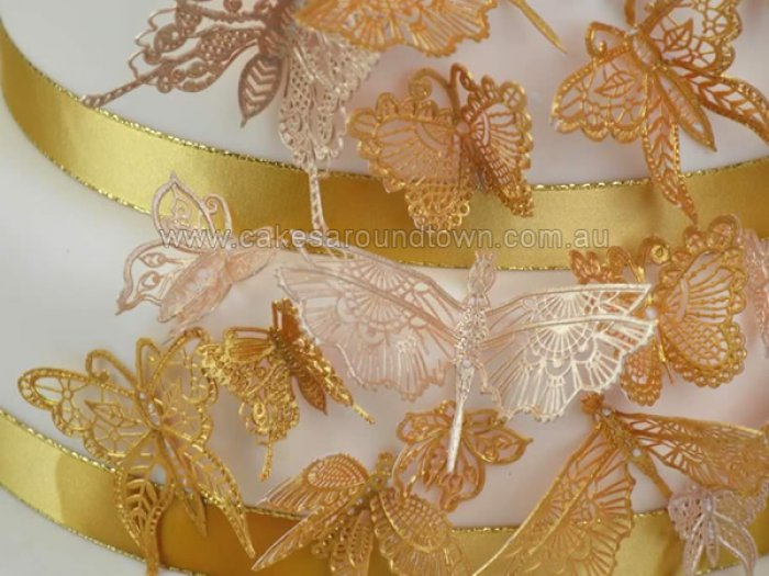 Cake Lace Mat - BEAUTIFUL BUTTERFLIES