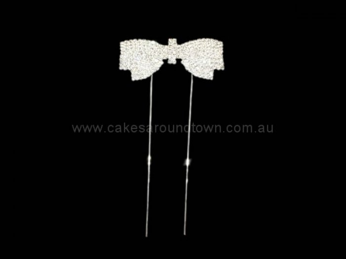 Bow Diamante Cake Pin