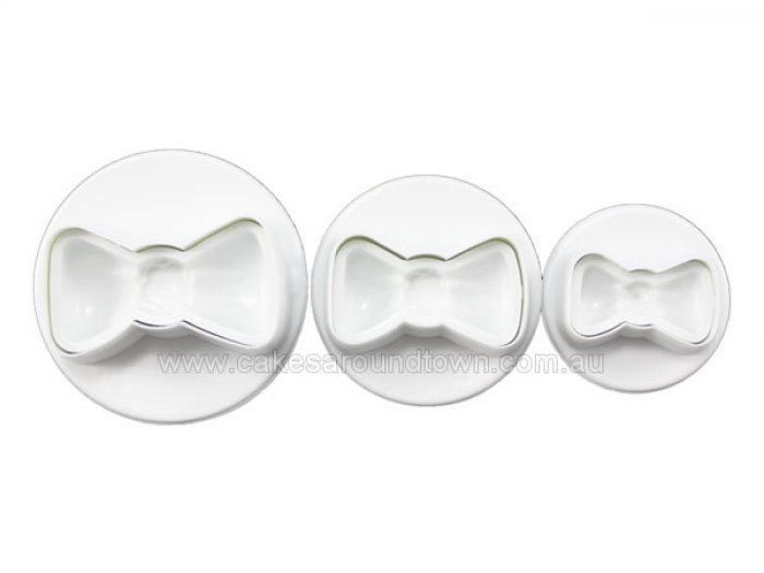 Bow Tie Plunger Cutter Set of 3