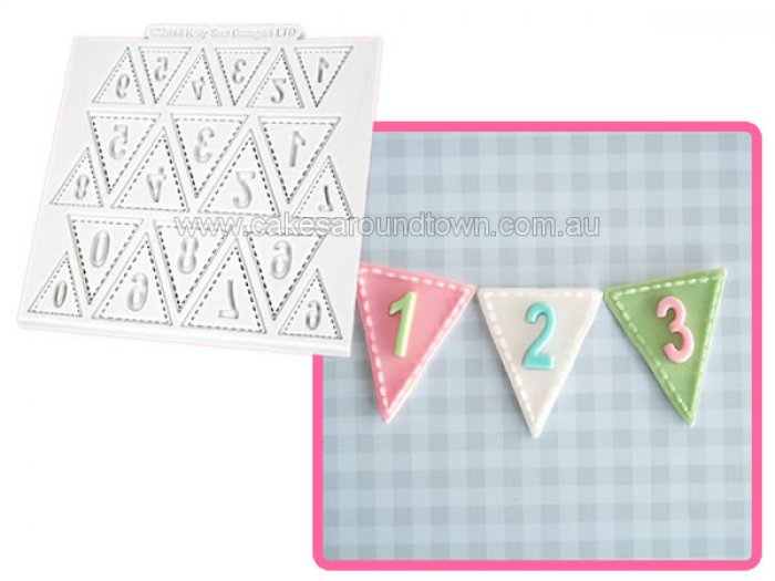 Katy Sue Design Mat - NUMBERS Bunting
