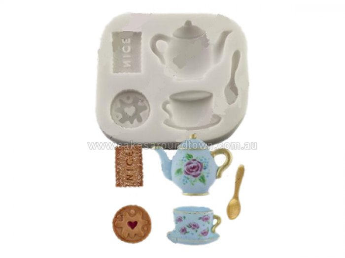 Tea and Biscuits Sugarcraft Silicone Mould
