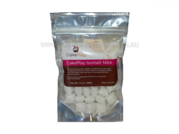Isomalt by Cake Play - WHITE NIBS 198grams
