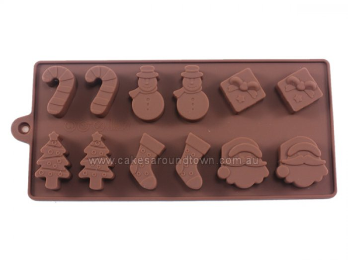 Christmas Assortment Silicone Chocolate Mould
