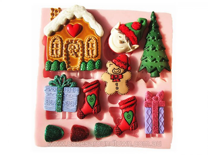 Christmas Assortment with PRESENTS Silicone Mould