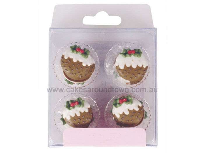 Sugar Cake Decorations For Christmas : Christmas Pudding Sugar Decorations (12)