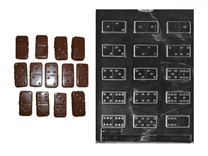 Dominoes Chocolate or Gumpaste Mould