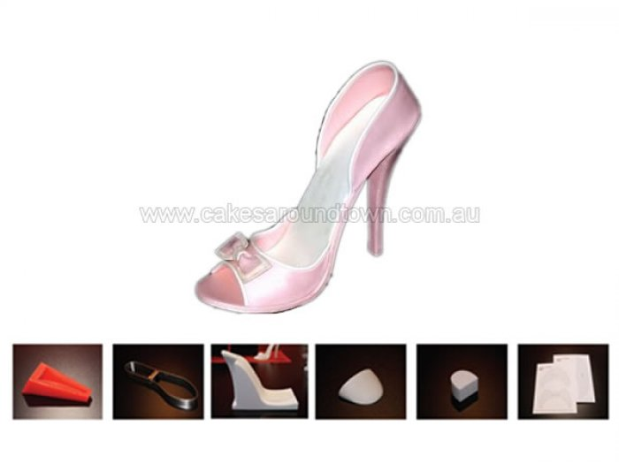 high heel shoe kit for gumpaste fondant 5 quot by cake structure