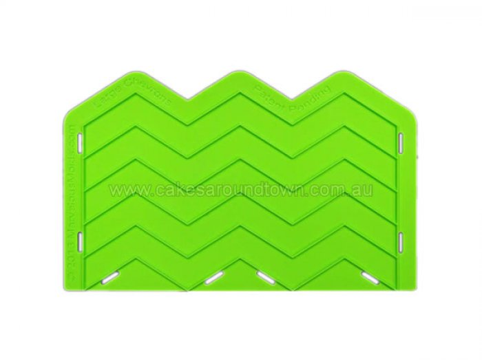 Large Chevron Silicone Onlay by Marvelous Molds